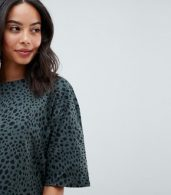 photo Ultimate t-shirt Dress in Leopard Print by ASOS DESIGN Tall, color Multi - Image 3
