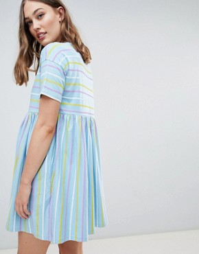 photo Maternity Smock Dress in Cut About Stripe by ASOS DESIGN, color Multi - Image 2