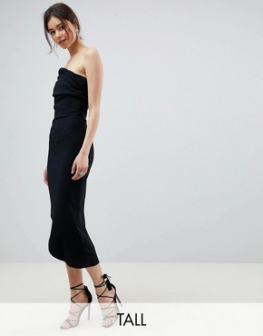 photo One Shoulder Dress with Asymetric Hem by City Goddess Tall, color Black - Image 1
