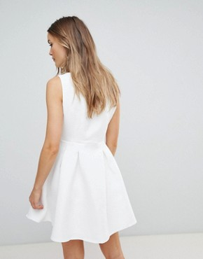 photo Structured Skater Dress by Zibi London, color White - Image 2