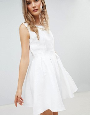 photo Structured Skater Dress by Zibi London, color White - Image 1