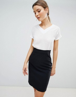 photo 2-in-1 Dress by Zibi London, color Black/White - Image 1