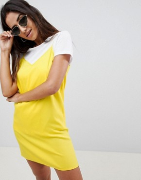 photo Mini Cami Slip Dress by ASOS DESIGN, color Yellow - Image 1