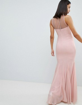photo Embellihsed Chiffon Maxi Dress by City Goddess, color Pink - Image 2