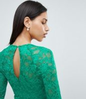 photo 3/4 Sleeve Lace Midi Dress by City Goddess, color Green - Image 3