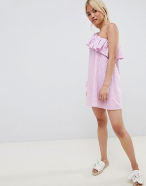 photo One Shoulder Dress by Vero Moda Petite, color Winsome Orchid - Image 4