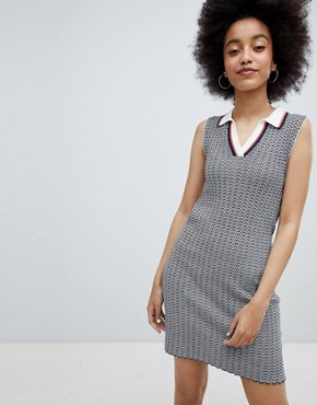 photo Chevron Rob Dress by Urban Bliss, color Grey - Image 1