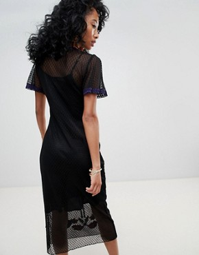 photo Lace Midi Dress with Floral Embroidery by Cleobella, color Multi - Image 2