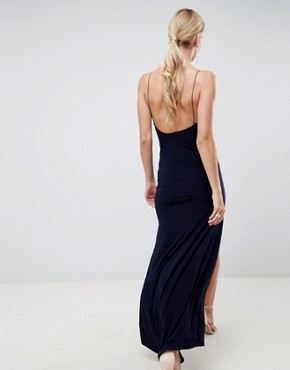 photo Slinky Maxi Dress by ASOS DESIGN, color Navy - Image 2