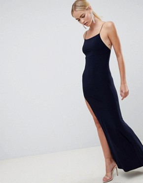 photo Slinky Maxi Dress by ASOS DESIGN, color Navy - Image 1