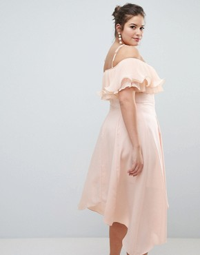 photo Daphne Pleated Midi Dress by Coast Plus, color Blush - Image 2