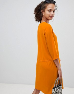 photo Tie Waist Dress by Only, color Orange - Image 2