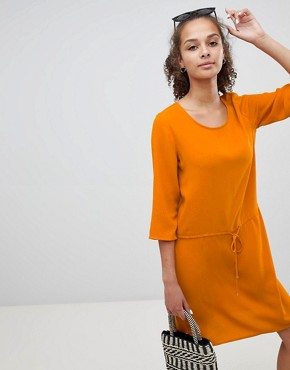 photo Tie Waist Dress by Only, color Orange - Image 1