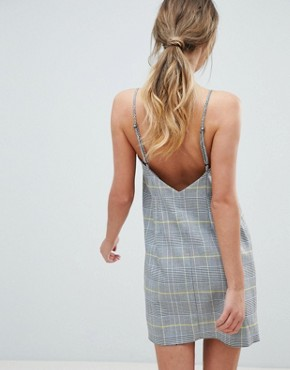 photo Mini Check Square Neck Cami Dress by ASOS DESIGN, color Multi - Image 2