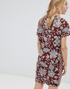 photo Floral Print Dress with Elasticated Waist by Maison Scotch, color Multi/Red - Image 2
