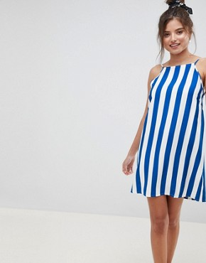 photo Low Back Cami Sundress in Bold Stripe by ASOS DESIGN, color Multi - Image 2