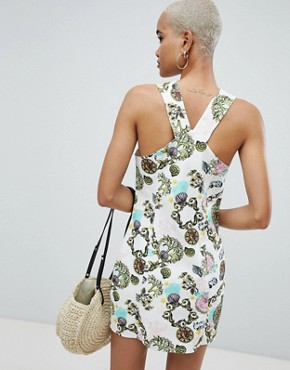 photo Bodycon Dress in Scarf Print by ASOS DESIGN, color Multi - Image 2