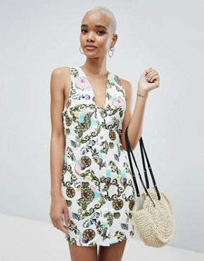 photo Bodycon Dress in Scarf Print by ASOS DESIGN, color Multi - Image 1