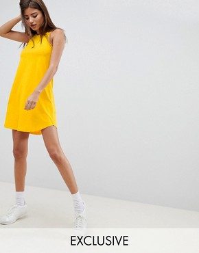 photo Lace up Swing Dress by Noisy May, color Yellow - Image 1