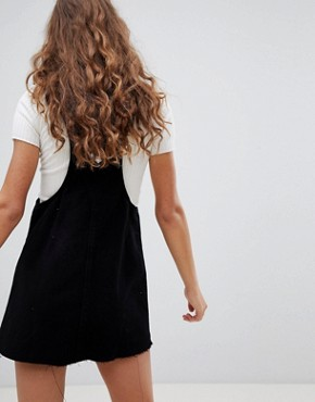 photo Classic Dungaree Dress by Pull&Bear, color Black - Image 2