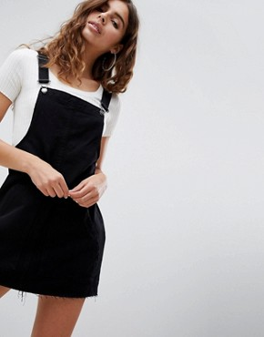 photo Classic Dungaree Dress by Pull&Bear, color Black - Image 1