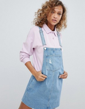 photo Classic Dungaree Dress by Pull&Bear, color Blue - Image 1