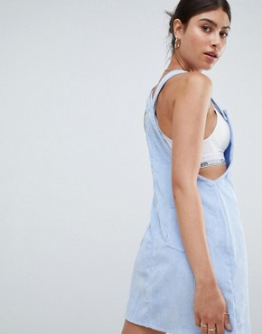 photo Cord Dungaree Dress by Missguided, color Blue - Image 2