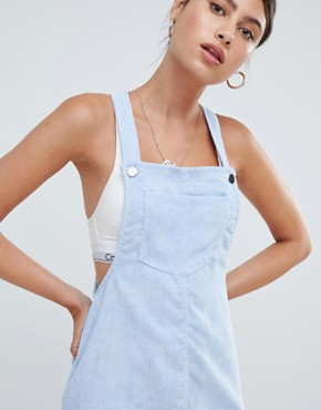 photo Cord Dungaree Dress by Missguided, color Blue - Image 3