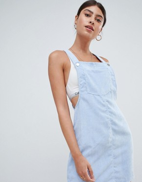 photo Cord Dungaree Dress by Missguided, color Blue - Image 4