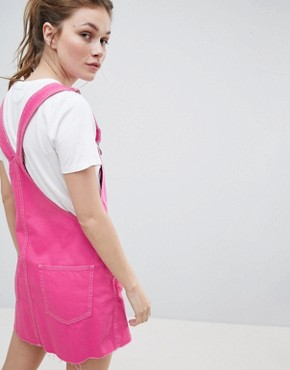 photo Dungaree Dress in Pink by Bershka, color Pink - Image 2