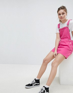 photo Dungaree Dress in Pink by Bershka, color Pink - Image 4