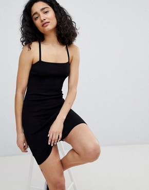 photo Cami Dress in Black by Bershka, color Black - Image 1