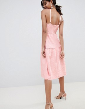 photo Tiered Lace Prom Dress by ASOS DESIGN, color Rose - Image 2