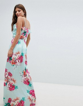 photo Floral Maxi Dress by Jessica Wright, color Blue - Image 2