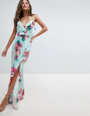 photo Floral Maxi Dress by Jessica Wright, color Blue - Image 1