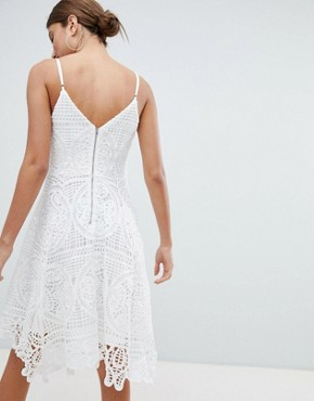 photo Lace Skater Dress by Jessica Wright, color Cream - Image 2