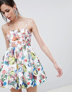 photo Mixed Print Cami Puffball Dress by ASOS DESIGN, color Print - Image 1