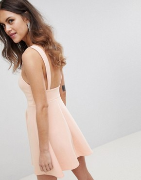 photo Square Neck Mini Prom Dress by ASOS DESIGN, color Nude - Image 2