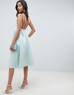 photo Strappy Open Back Prom Dress by ASOS DESIGN, color Dusty Aqua - Image 2