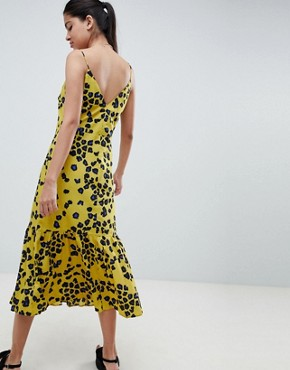 photo Animal Print Pephem Midi Slip Dress by ASOS DESIGN, color Multi - Image 2