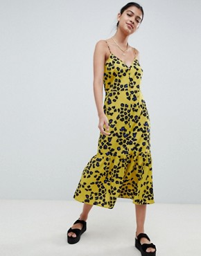 photo Animal Print Pephem Midi Slip Dress by ASOS DESIGN, color Multi - Image 1