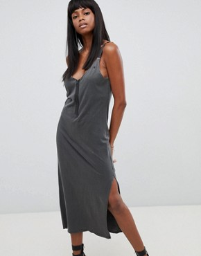 photo Drapey Long Dress by G-Star, color Black - Image 1