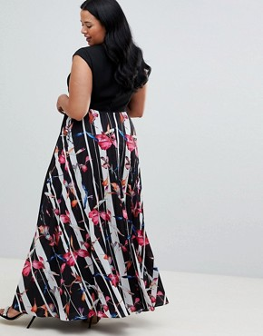 photo Katy Print Maxi Dress by Coast Plus, color Multi - Image 2