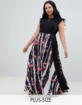 photo Katy Print Maxi Dress by Coast Plus, color Multi - Image 1