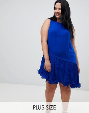 photo Peyton Wired Hem Dress by Coast Plus, color Cobalt - Image 1