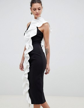 photo Monochrome Ruffle Shift Dress by Coast, color Monochrome - Image 1