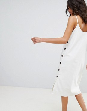 photo Button Side Midi Dress by Moon River, color Ivory - Image 2
