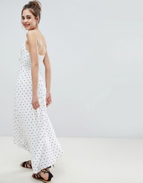 photo Button Through Maxi Dress by Hollister, color White Print - Image 2