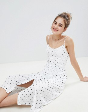 photo Button Through Maxi Dress by Hollister, color White Print - Image 4