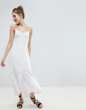 photo Button Through Maxi Dress by Hollister, color White Print - Image 1